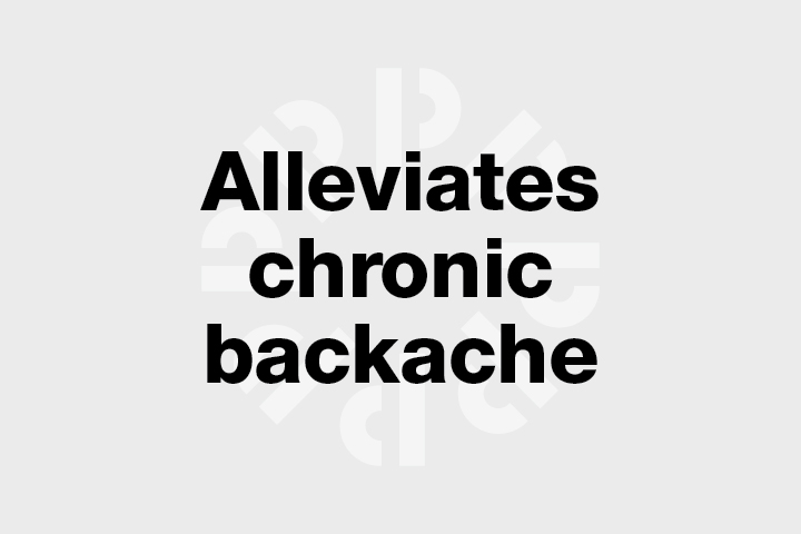Alleviates chronic backache and joint pain